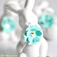 paper flowers for Easter tutorial