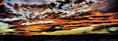 sunset sol clouds atardecer nubes puesta posta núvols sabadell capvespre