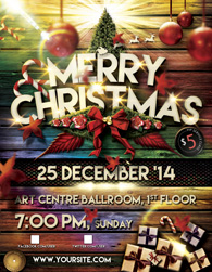 Christmas Event Tickets Print Ready