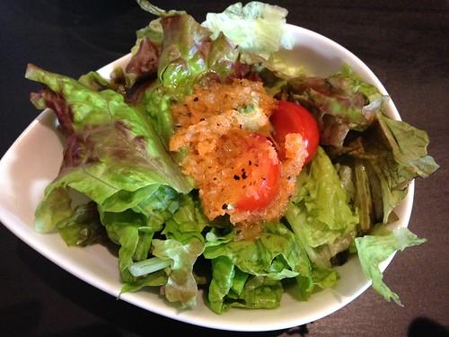 マリーアイランガニー ウィークエンドランチのサラダ。