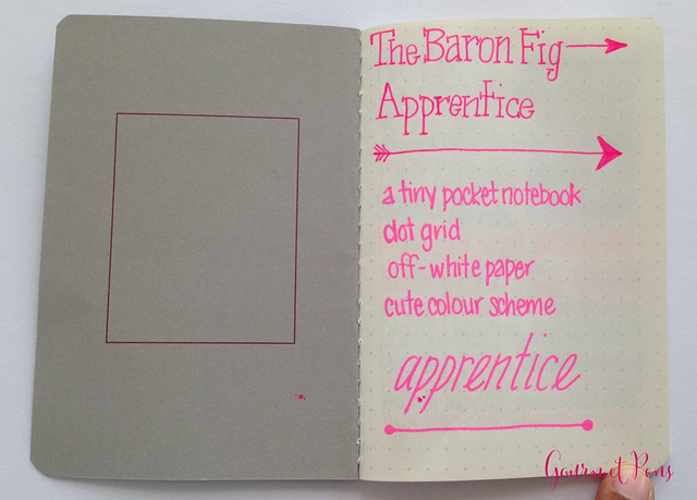 Review Baron Fig Apprentice Dot Notebooks @BaronFig
