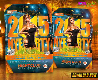 NYE - New Year Eve Party Flyer Template