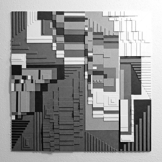 Greyscale Series : Glitch Construct # 3.