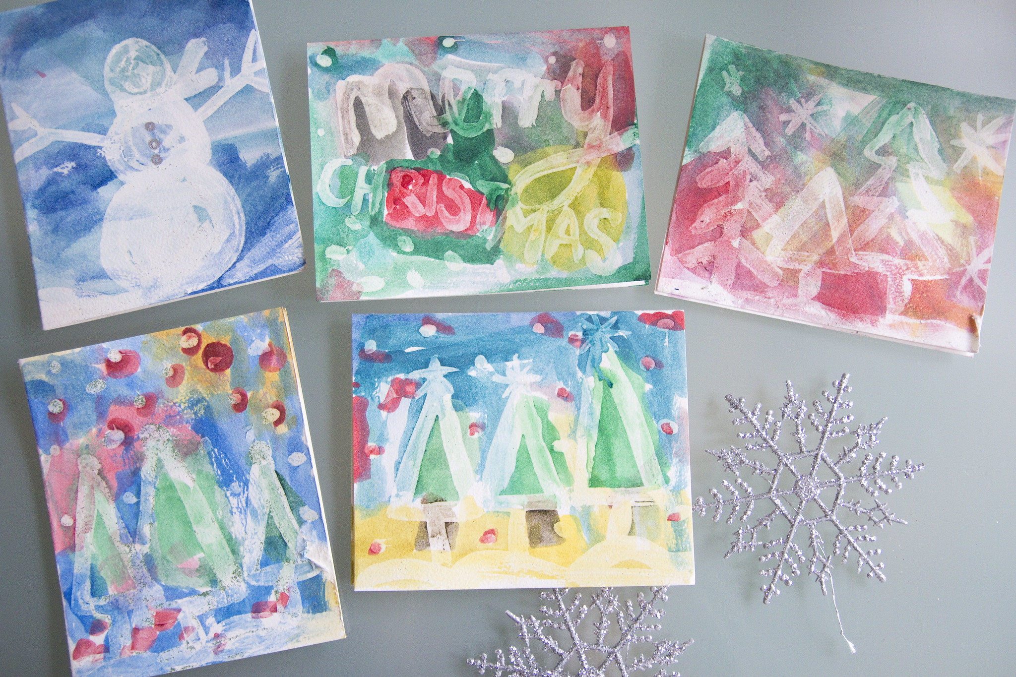 Crafts With Kids | Christmas Watercolor Cards « Jen Loves Kev