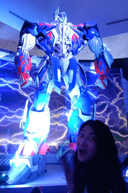 My turn to pose with Optimus Prime!