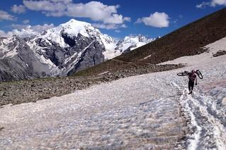 Bikenhike near Mt. Ortler