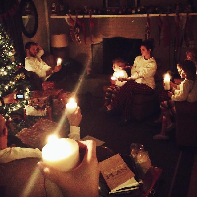 lake Christmas candlellight