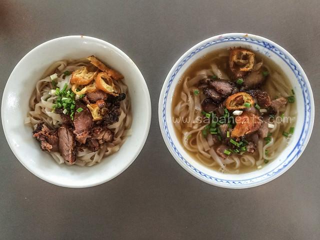 Sandakan central market fried pork kueh teow