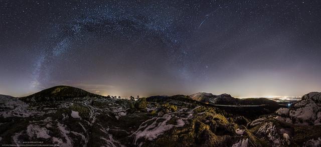 En Madrid si hay estrellas! (4) - Via lactea de Otoño sobre el Parque Nacional de Guadarrama. [Explore]