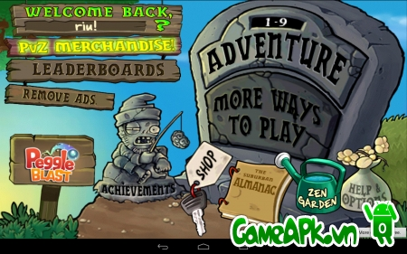 Plants vs. Zombies v1.1.6 hack full cho Android
