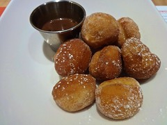 donuts and chocolate sauce from Tap (415) at the W…