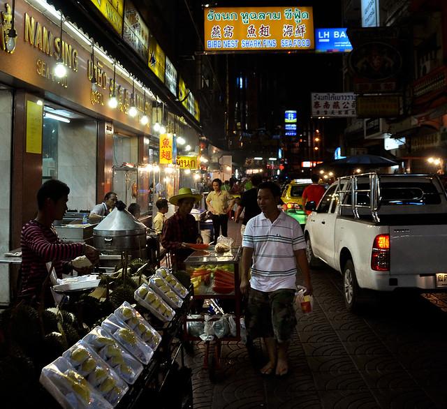 Puestos de las calles de Chinatown