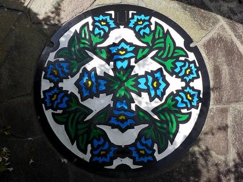 Chino Nagano, manhole cover (長野県茅野市のマンホール)