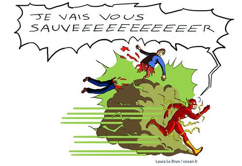 Avec sa vitesse supersonique, Flash serait plus un vilain qu'un héros, par Laura Le Brun