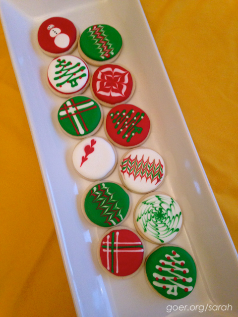 Christmas royal icing cookies