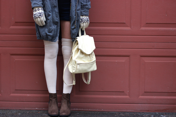 how to wear over the knee socks