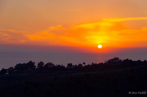 sunset sea sun clouds landscape photography spain nikon andalucia andalusia velezmalaga benajarafe d5100