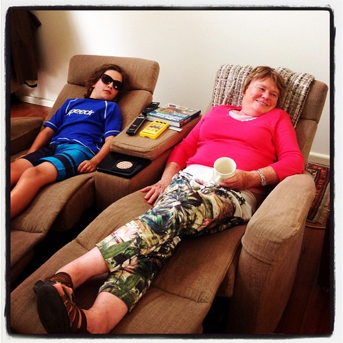 Loving the recliner chairs at my aunt's house.