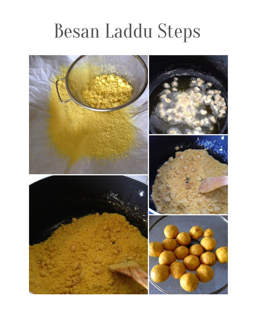 Besan laddu collage