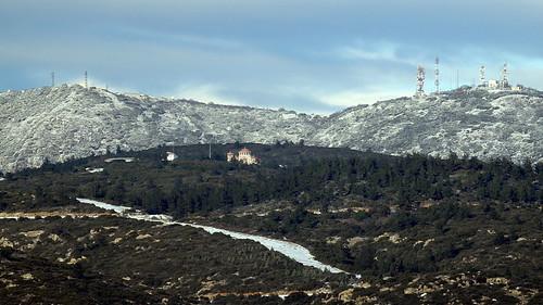 snow church forest aerial greece macedonia thessaloniki convent antenna timeless assumption nunnery dormition εκκλησία χιόνι μοναστήρι θεσσαλονίκη δάσοσ κεραίεσ κοίμησητησθεοτόκου