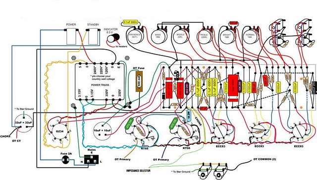 1911 marshall jtm 45 handwired amp clone build ste gough and jtm 45 schematic