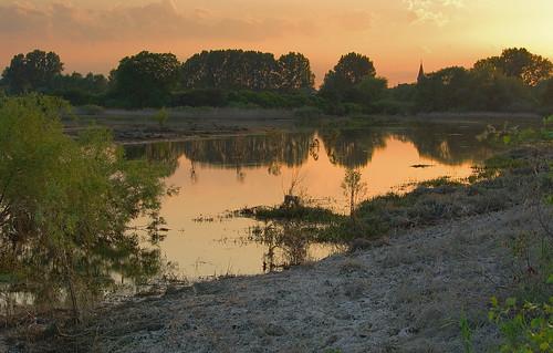trees sunset grass landscape bush poland polska backwater trawa drzewa krajobraz krzew zmierzch światłocień rozlewisko coloursofwater chairscuro barwywody