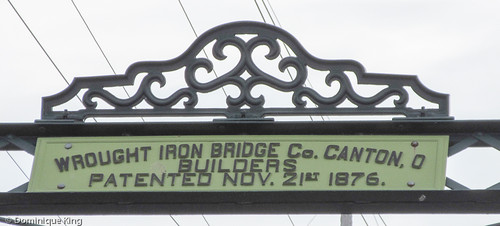 Wrought Iron Bridge of Canton, Ohio in Ann Arbor, Michigan