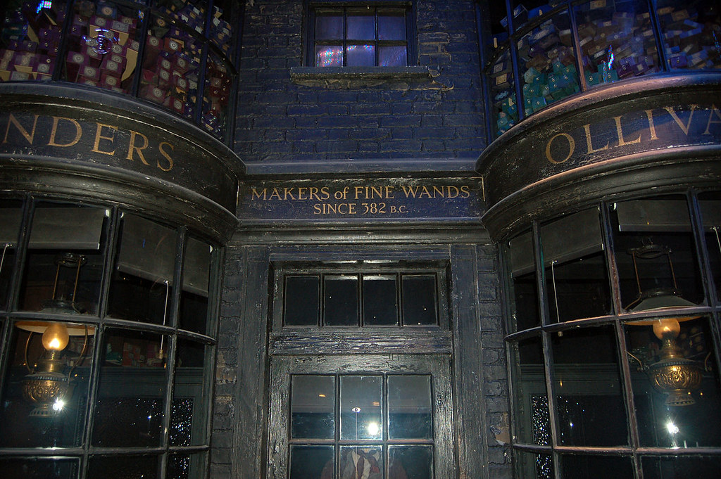 Ollivanders Wand Shop, Diagon Alley. Credit Rob Young