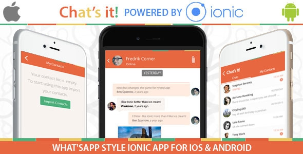 What's App Chat Clone v1.0 - An Ionic Framework ,Socket.io and Nodejs Full Hybrid App