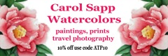 carol sapp watercolors shop ad