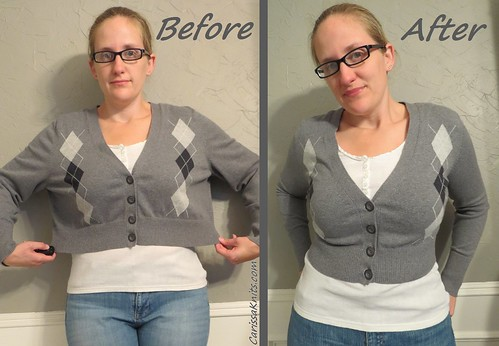 Argyle Cardi - Before & After
