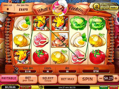 free What's Cooking free spins