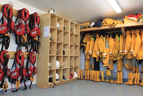 The upstairs kit room