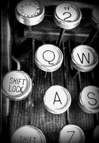bw white black typewriter keys key lock low shift and manual keystroke