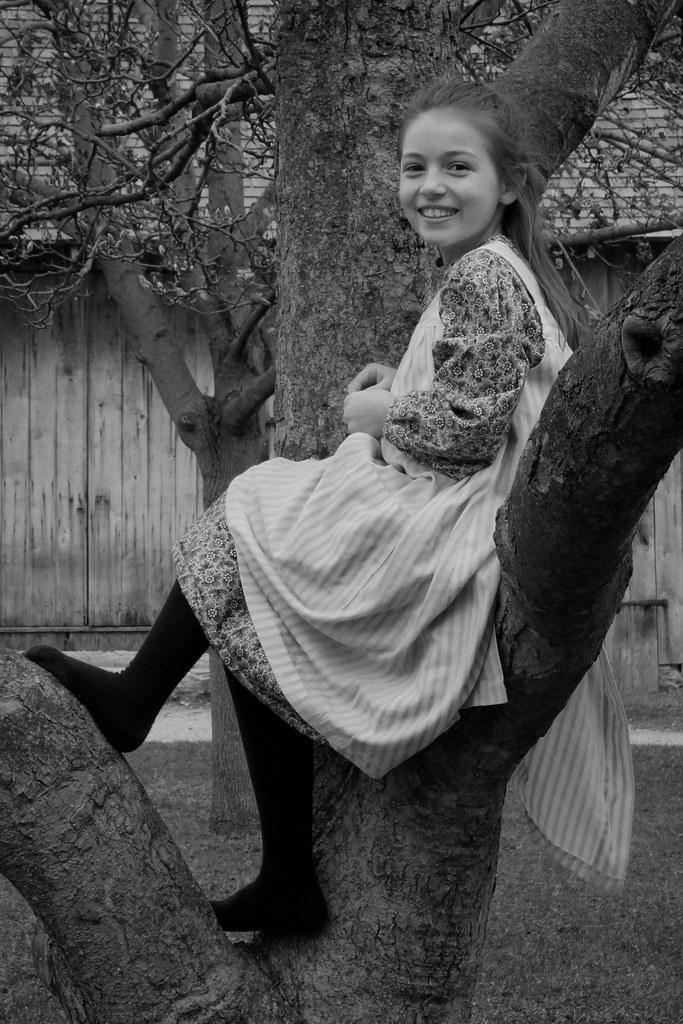 Katie Climbs a Tree