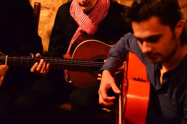 Guitarras flamencas en zambomba de Jerez