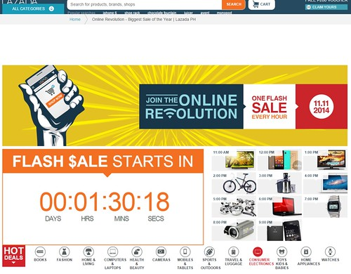 Lazada.com.ph 11-11 Flash sale is the craziest online sale
