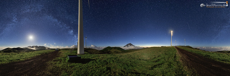 Pico highland nightscape in 360°