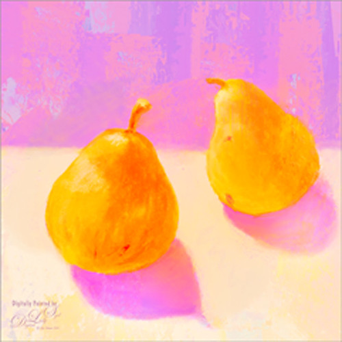 Image of two pears painted in Corel Painter