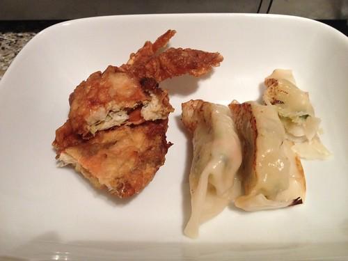 IMG_0920_gyoza and crab tempura