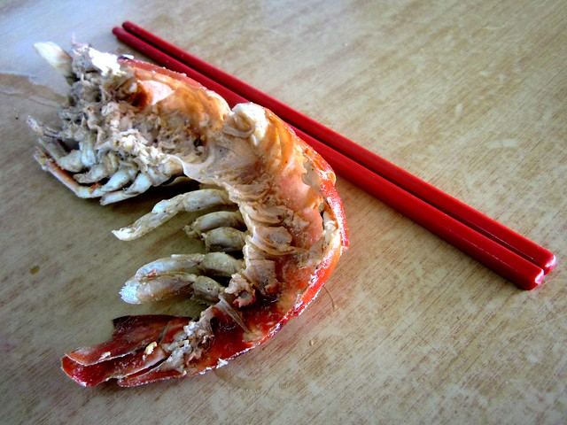 Prawn & chopsticks
