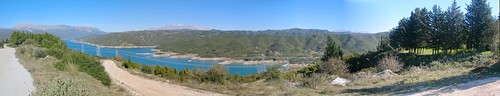 autostitch panorama lake dam hellas artificial panoramic greece arta ελλάδα δεη λίμνη άρτα φράγμα πουρνάρι τεχνητή