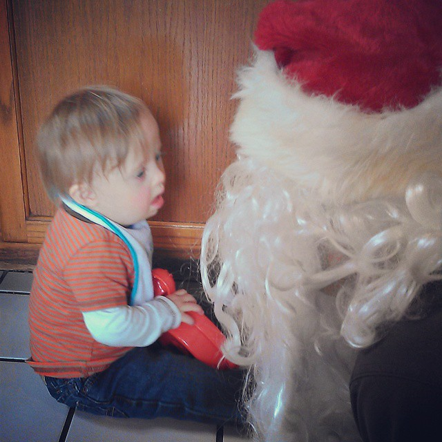 Santa practice. No fear.