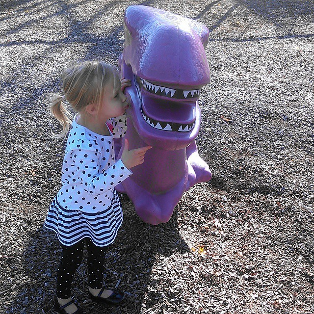 She wants to take the dinosaur home.