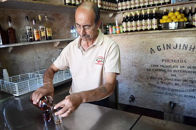 Ginjinha Bar Owner, Lisbon, Portugal