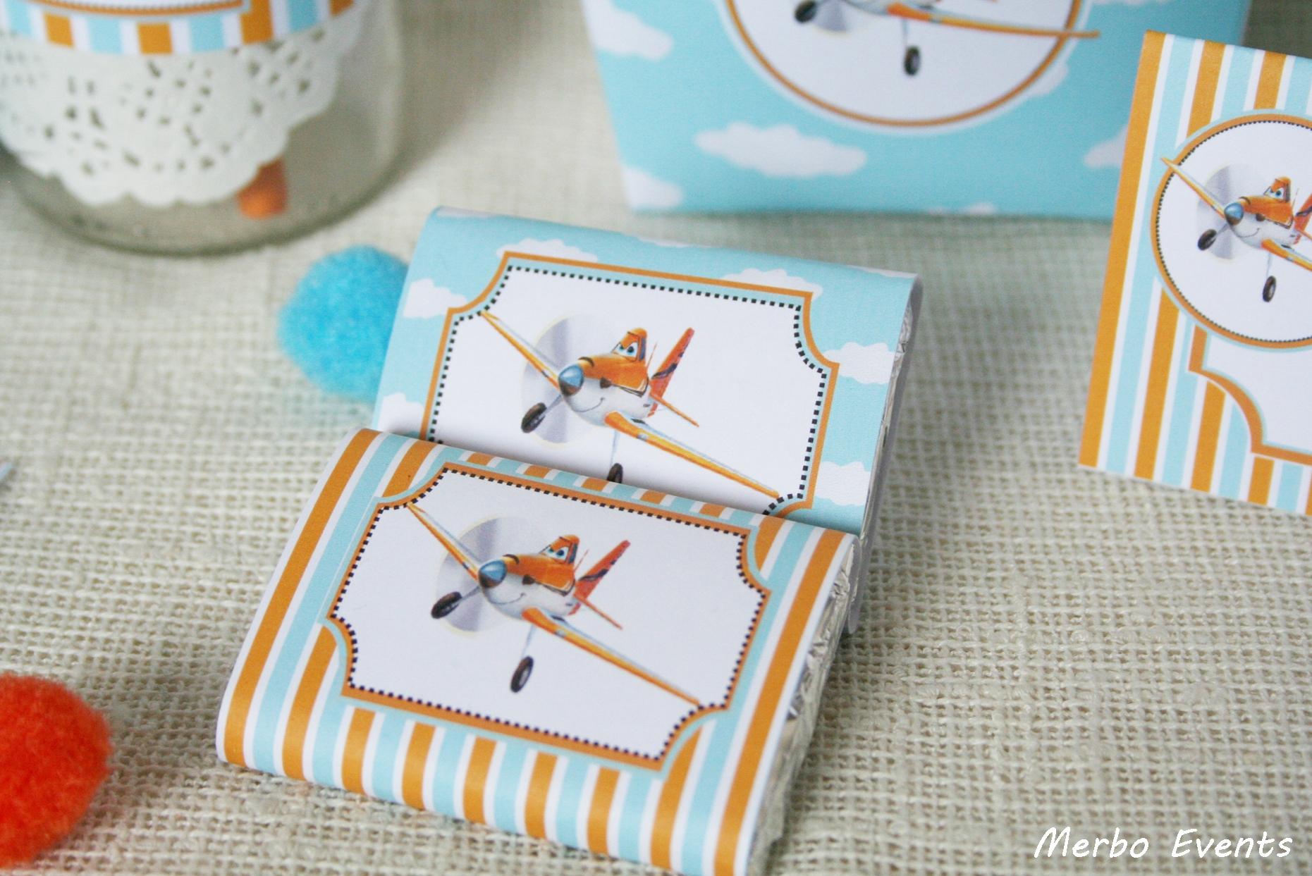 Chocolatinas personalizadas cumpleaños aviones