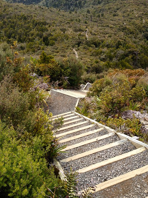 Final set of stairs to the Pinnacles