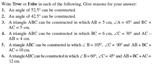 Class 9 Important Questions for Maths - Constructions