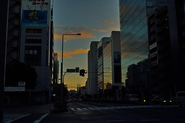 朝焼け 青山一丁目