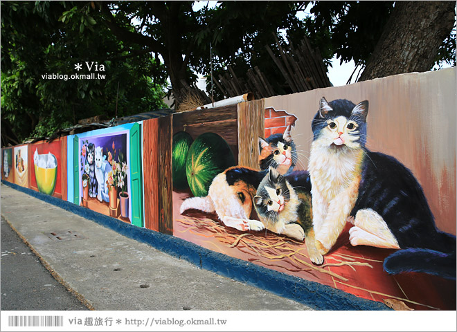 【嘉義菁埔貓世界】嘉義貓村~菁埔彩繪村。迷你版貓村,立體貓掌好俏皮!9